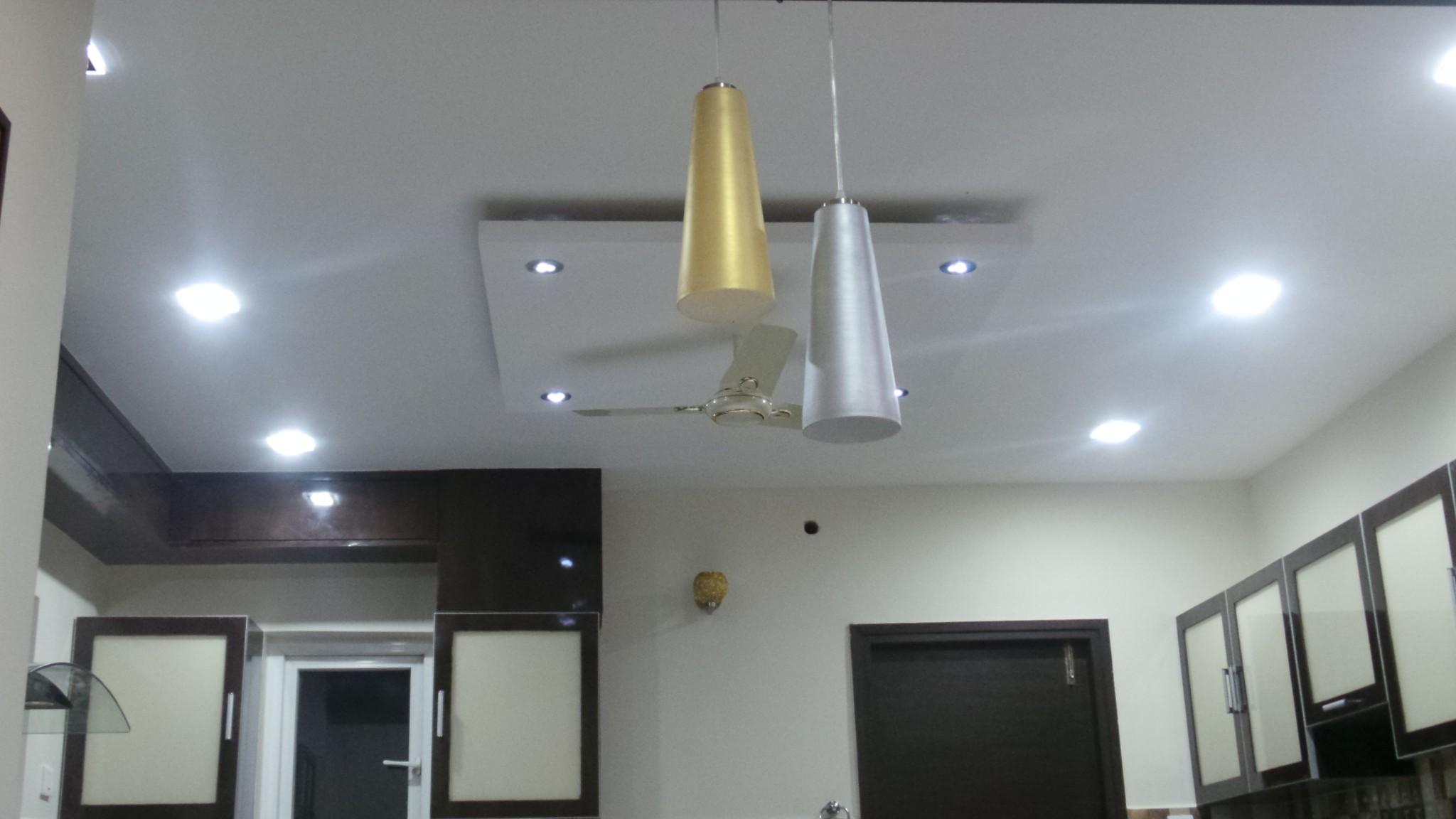 Interior wall texture - False Cieling Kitchen Through Living
