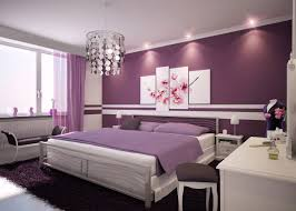 Idea 12- White and Purple bending into each other in the bedroom