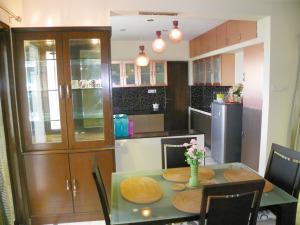 Open Kitchen-metallic finish from dining area