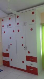 Polka dots on the wardrobes